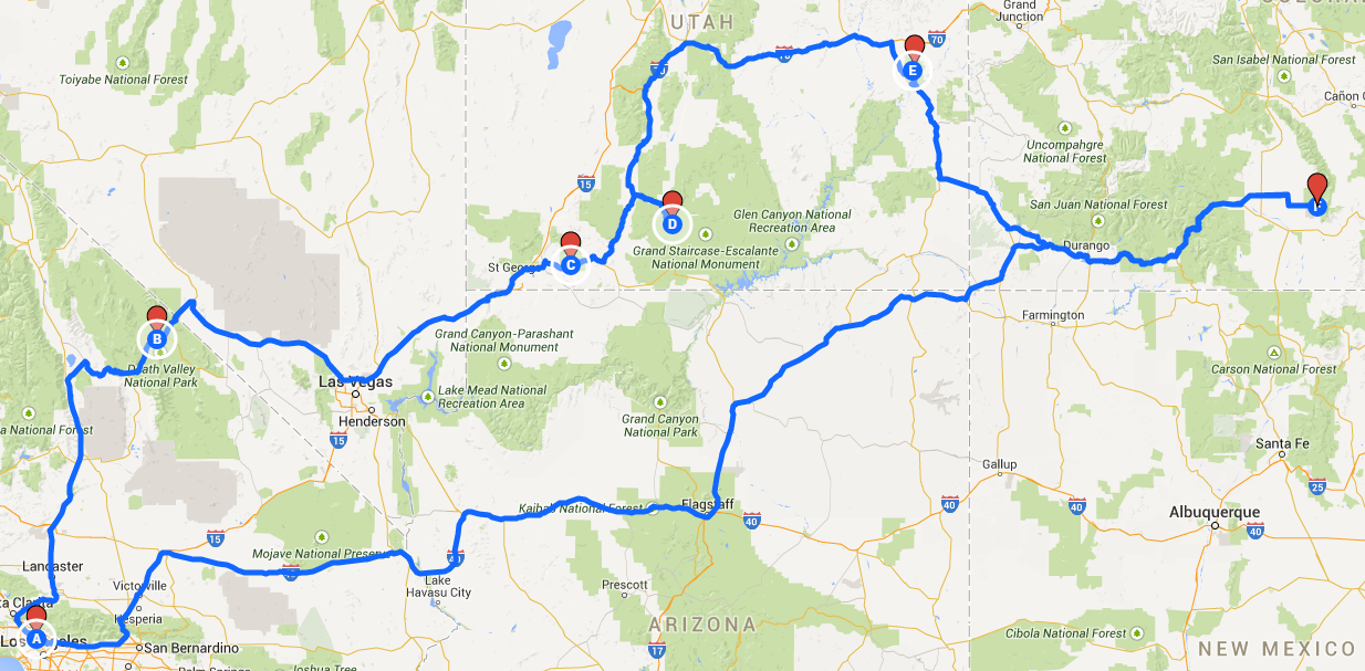 Plan A Road Trip Map How to Plan a Road Trip Route with Google Maps Plan A Road Trip Map